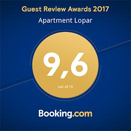 apartments lopar booking 2017
